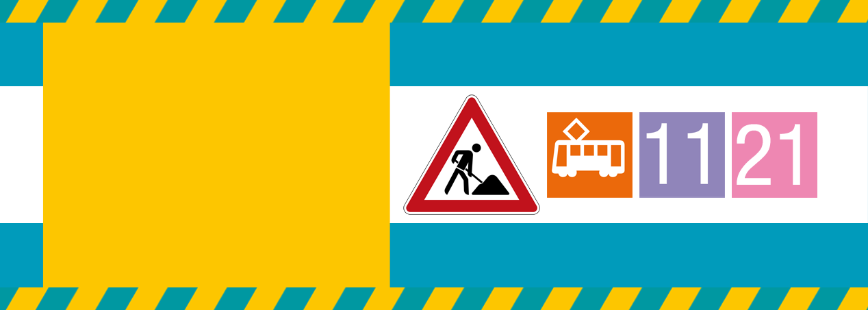 Gleisbauarbeiten auf der Mainzer Landstraße im Gallus und in Griesheim